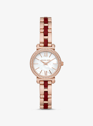 Michael Kors Petite Sofie Rose Gold-Tone and Acetate Watch - Two Tone