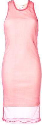 Helmut Lang two layer dress