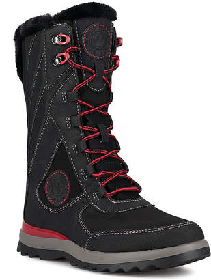 Aquatherm By Santana Canada Women's Cold Weather Boots BLACK - Black & Red Ahnah Waterproof Boot - Women