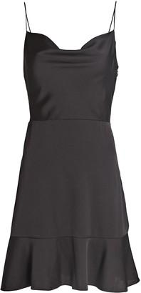 Intermix Parker Silk Mini Dress