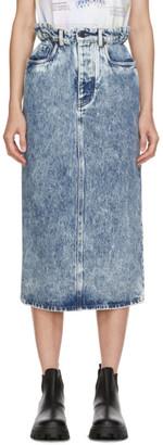Miu Miu Blue Denim Elastic Waist Skirt