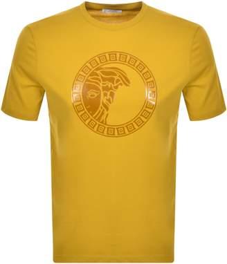 Versace Medusa Logo T Shirt Yellow
