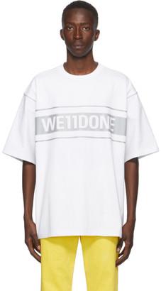 we11done White Reflective Logo T-Shirt