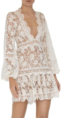 Alexis Preena Long-Sleeve Lace Mini Dress