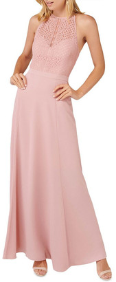 Forever New Nina Lace Top Soft Maxi Dress