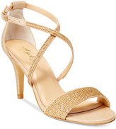 Thalia Sodi Dulce Rhinestone Strappy Evening Sandals, Only at Macy's