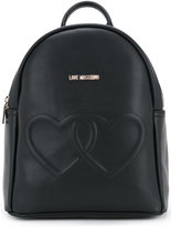 Love Moschino double hearts backpack - women - Polyurethane - One Size