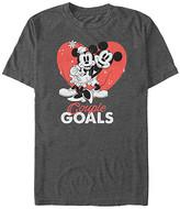 Fifth Sun Tee Shirts CHAR - Charcoal Heather Mickey & Minnie 'Couple Goals' Tee - Adult