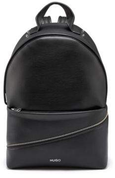 HUGO Faux-leather backpack with zip detail