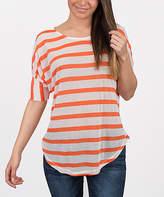 Orange Stripe Timeless Dolman Tunic