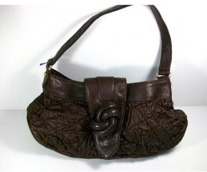 Botkier pristine (PR Chocolate Leather Shoulder Bag, Rare