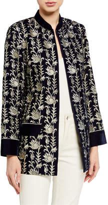 Bella Tu Noel Velvet Jacket with Metallic Embroidery