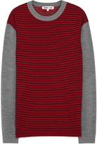 Mcq Alexander Mcqueen Red Striped Wool Jumper