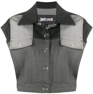 Just Cavalli Cropped Denim Vest