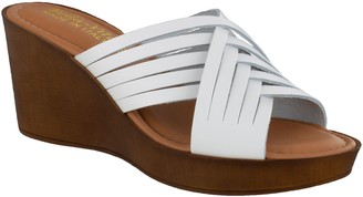 Bella Vita Italy Woven Leather Wedge Sandals - Cat-Italy