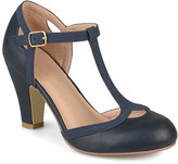 Journee Collection Navy Olina T-Strap Pump