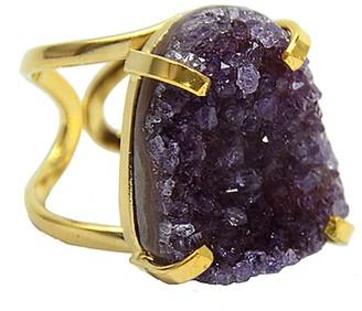 Tiana Jewel Mini Amethyst Gemstone Cluster Ring