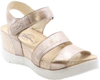 Fly London Weko Leather Wedge Sandal