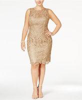 Adrianna Papell Plus Size Dress, Sleeveless Lace Sheath