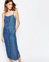 Warehouse Cami Button Through Denim Dress
