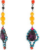 Tom Binns Fauve Electro Crystal Drop Earrings