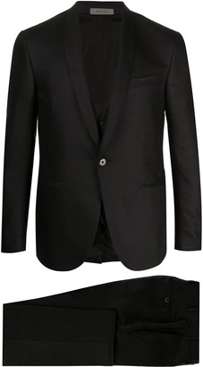 Corneliani Academy front pleated suit