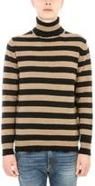 Mauro Grifoni Dolcevita Beige And Black Wool Sweater