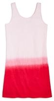Splendid Girls' Dip-Dye Cross-Back Shift Dress - Big Kid