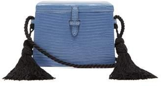 Hunting Season Square Trunk Mini Lizard-skin Cross-body Bag - Womens - Blue