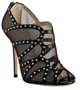 black studded fishnet 'Karina' booties