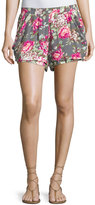 Bishop + Young Floral Print Shorts, Print