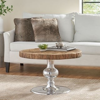 Christopher Knight Home Aida Wood and Aluminum Coffee Table
