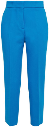 MSGM Cropped Crepe Slim-leg Pants