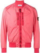 Stone Island Crinkle Reps NY bomber jacket - men - Cotton/Polyamide/Polyurethane Resin - S