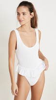 Hunza G Denise Frill One Piece