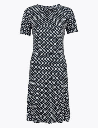 Marks and Spencer Printed Knee Length Swing Dress