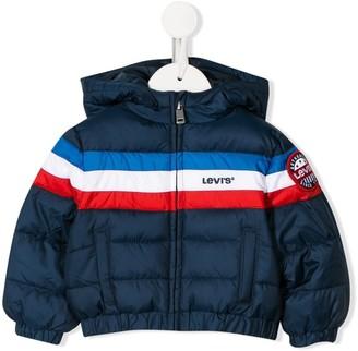 Levi's Kids striped puffer jacket