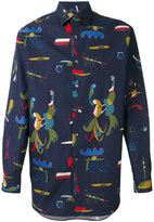 Salvatore Ferragamo comix print shirt - men - Silk/Cotton - M
