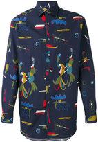 Salvatore Ferragamo comix print shirt