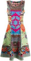 Etro sleeveless patchwork print dress