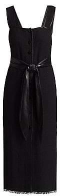 Nanushka Women's Rita Tie-Waist Apron Dress