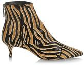 Alexandre Birman Kittie Tiger-Stripe Calf Hair Ankle Boots