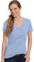 Nano Hanes Women's T V-Neck T-Shirt
