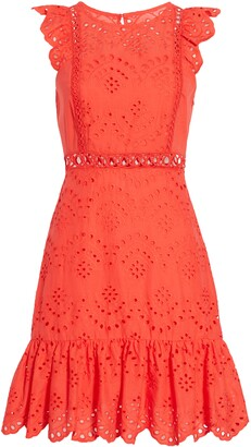 Sam Edelman Eyelet A-Line Dress