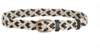 Zimmermann Leather & Cord Woven Belt