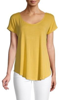 Bobeau Crossback Scoopneck T-Shirt