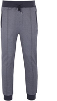 Boss Long Pant Cuffs Charcoal Grey Tapered Fit Tracksuit Bottoms