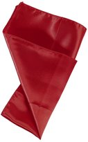 Wine Red Plain Pocket Square Accessories Mens Woven Microfiber Classic Gift Giving Hankerchief By Dan Smith