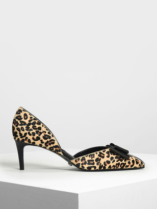 Charles & Keith Pony Hair Leopard Print Pumps