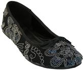 Black Sequin Embroidered Ballet Flat